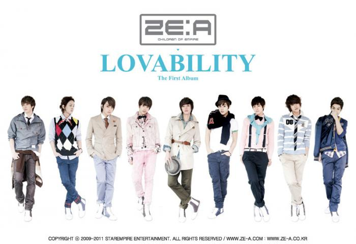 Album Lovability by ZE:A