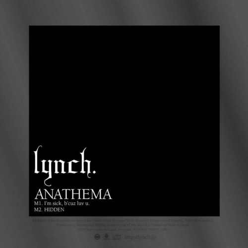 Single ANATHEMA by Lynch.