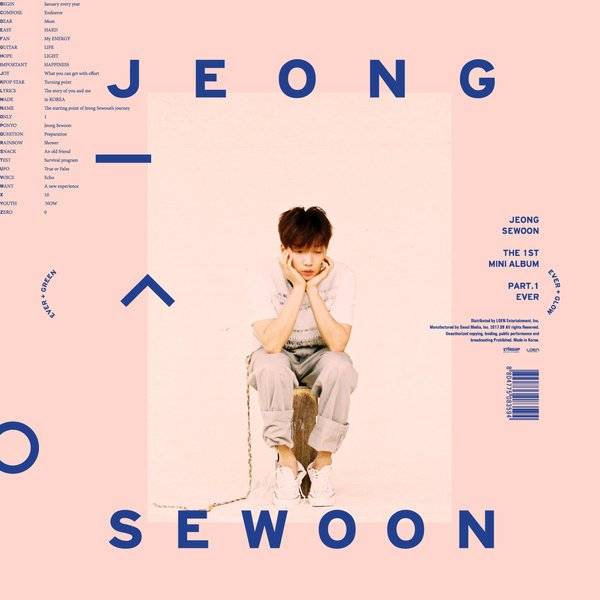 Mini album THE 1ST MINI ALBUM PART.1 `EVER` by Se Woon
