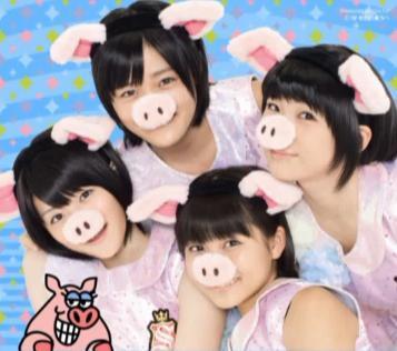 [Jpop] S/Mileage Are Little Pigs In