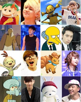 Korean Idols Have Cartoon Character Doppelgangers?