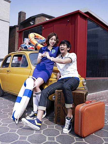 T-ara's Eun Jung and Kim Soo Hyun for Spris