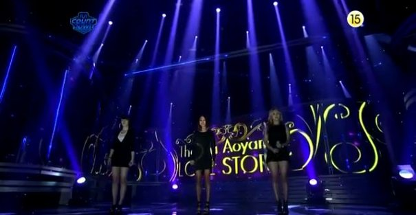 Thelma Aoyama and 4Minute Perform Together on M! Countdown