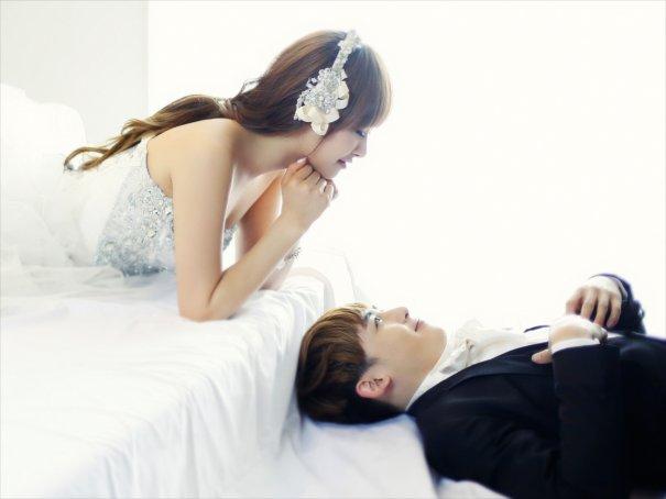 Wedding Photo Shoot for 2PM's Nichkhun and f(x)'s Victoria