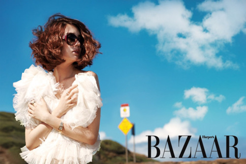 Yoon Eun Hye Bares Back for Bazaar