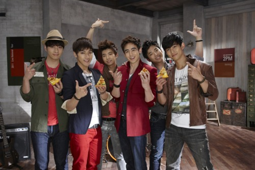 2PM Makes Pizza Look Extra Delicious in Behind-the-Scenes for CF
