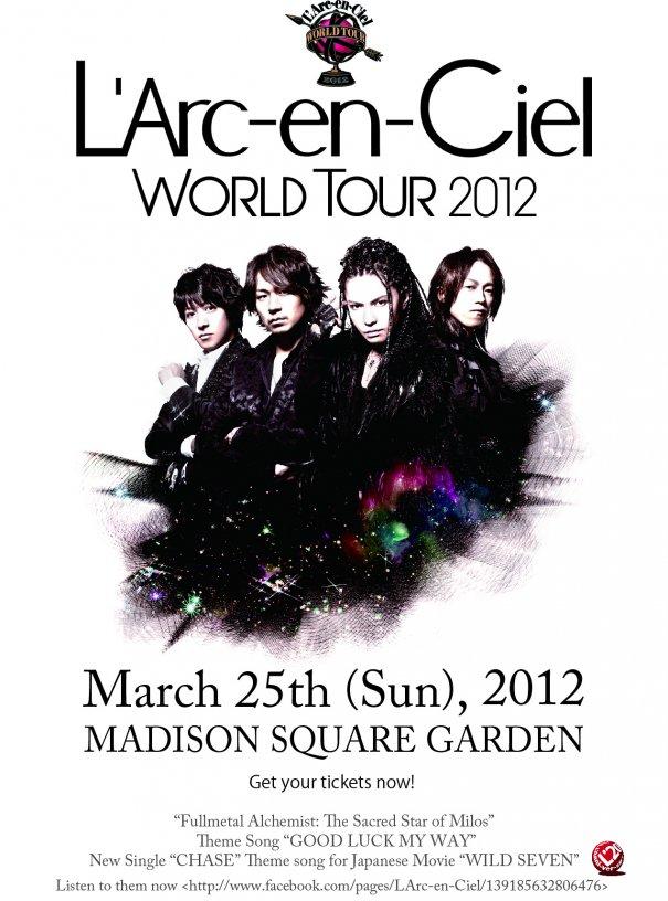 L'Arc~en~Ciel World Tour 2012