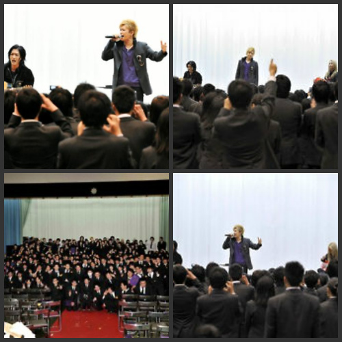 GACKT Surprises a Graduating Class With a Live Performance