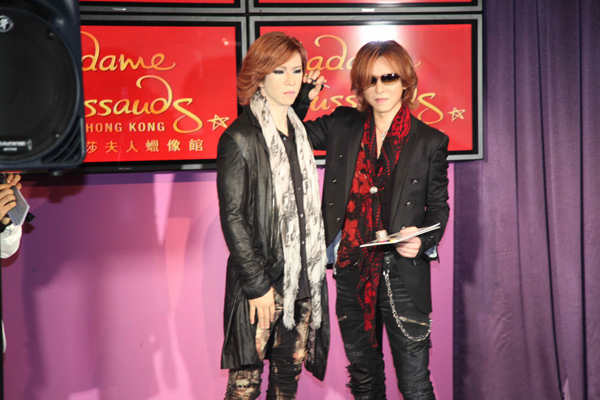 YOSHIKI Unveils Wax Figure at Madam Tussauds Hong Kong