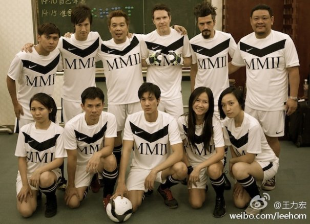 Lee Hom Wang Has Soccer Match With Band