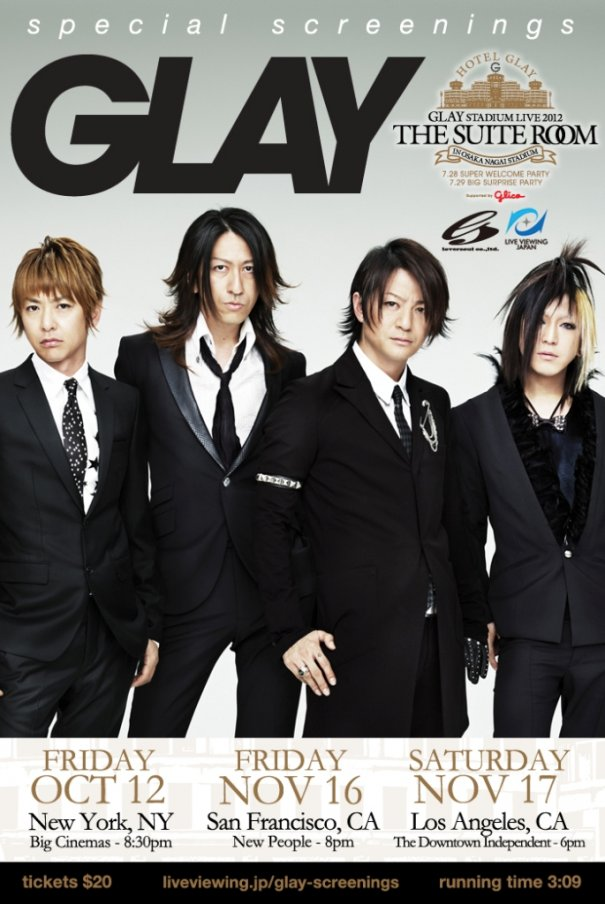 [Jpop] GLAY New York City Concert Film Viewing Winner!