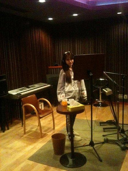 IU In Recording Studio Preparing For Comeback