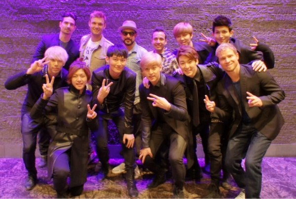 U-KISS Meets the Backstreet Boys During a Concert in Malaysia