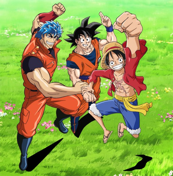 """One Piece"", ""DBZ"" and ""Toriko"" Crossover Anime Commercials"