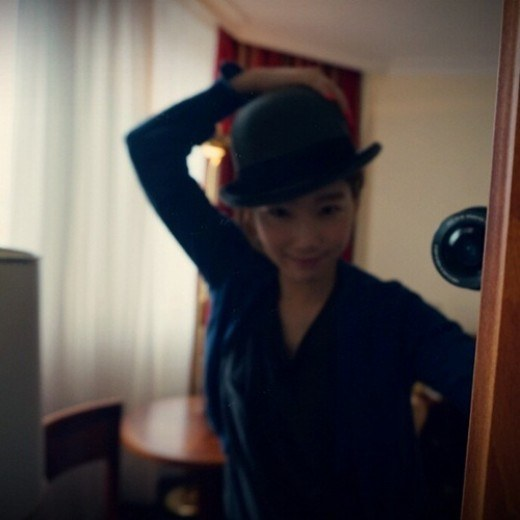 Girls' Generation's Taeyeon Poses With A Fashionable Fedora