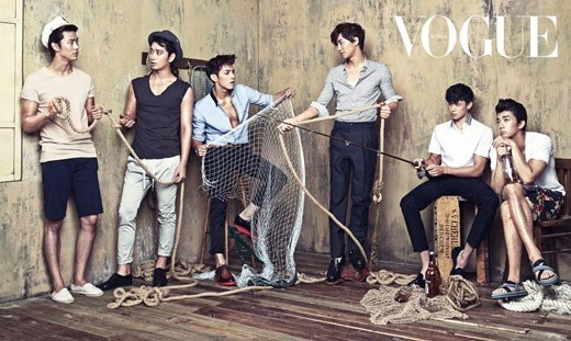 2PM Becomes Sexy Sailors For Vogue Korea