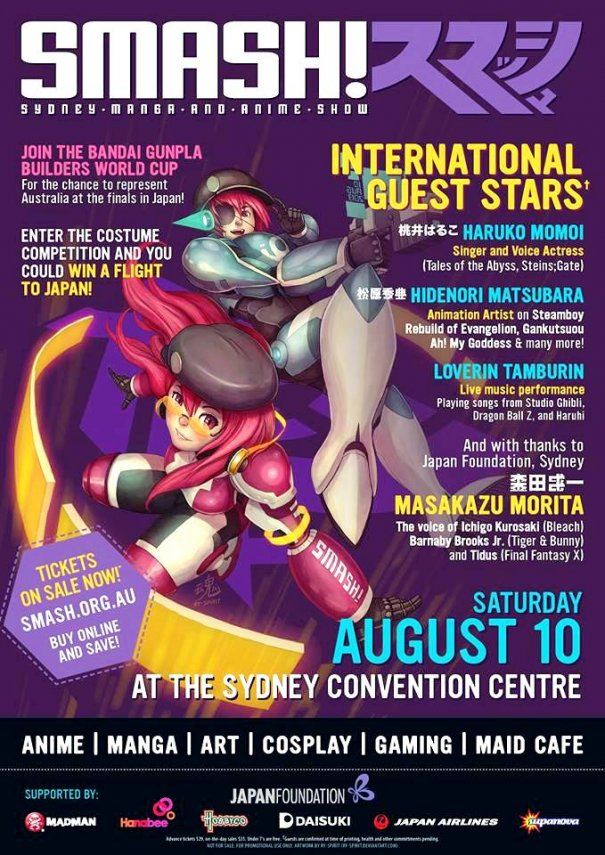 [Jpop] SMASH! 2013 Sydney Will Be Held on The 10th of August