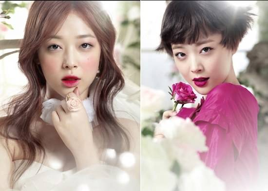 [Kpop] f(x)'s Sulli Exudes Princess Charm For Etude House's New Collection