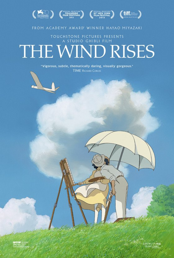 "Hayao Miyazaki's ""The Wind Rises"" Nominated on Golden Globes' Short List"
