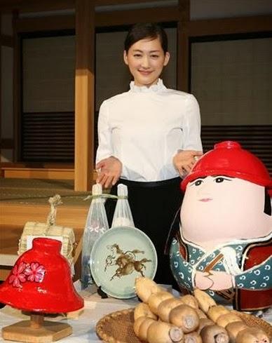 "Haruka Ayase Present At NHK's Taiga Handover Ceremony For ""Yae No Sakura"" & ""Gunshi Kanbee"""