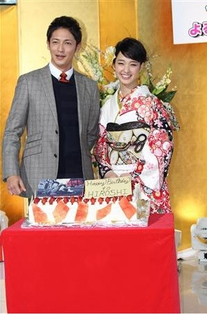 "Ayame Gouriki & Hiroshi Tamaki Present At The Press Conference For ""Watashi no Kirai na Tantei"""