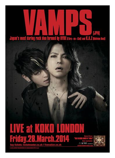 VAMPS Return To London For One Night Only