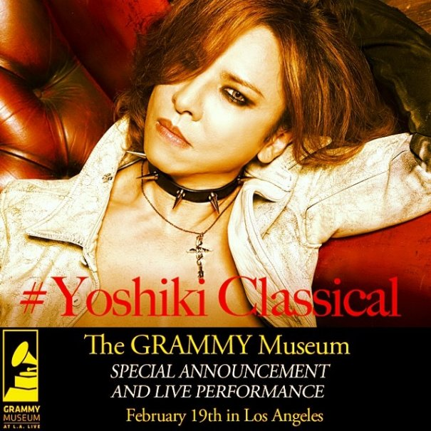 Yoshiki To Perform At The Grammy Museum in Los Angeles, California