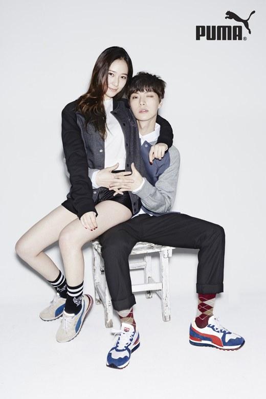 f(x)'s Krystal & Ahn Jae Hyun Pose For Puma
