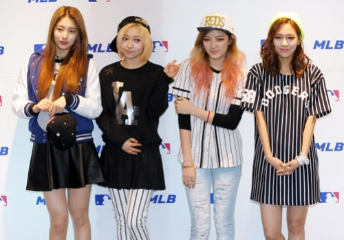 Miss A Attends MLB Event In LA Dodgers Fan Clothes