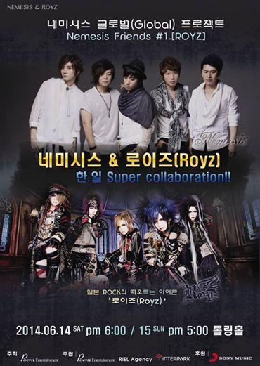 Royz will Head to Korea to Perform with Nemesis