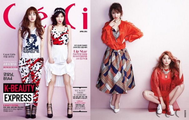 [Kpop] 4Minute Looks Sassy & Chic For Ceci Magazine's Spring Issue