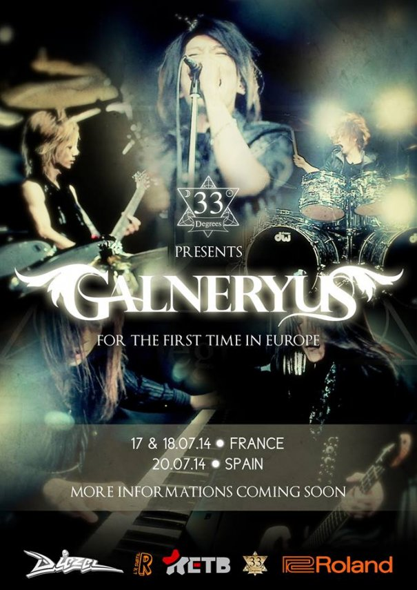 GALNERYUS to Perform in Europe for the First Time