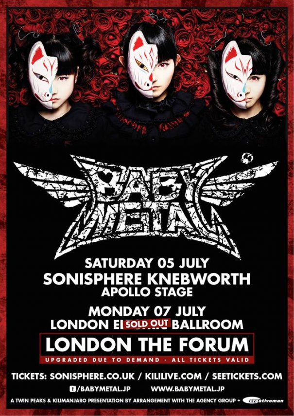 BABYMETAL Solds Out UK Headline Show in Less than a Day