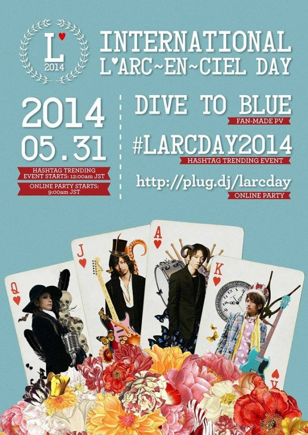 [Jrock] Fans to Celebrate International #LArcDay2014 on May 31st