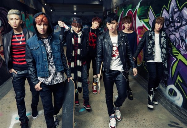 Seven members of hiphop group BTS have unveiled a jacket for an
