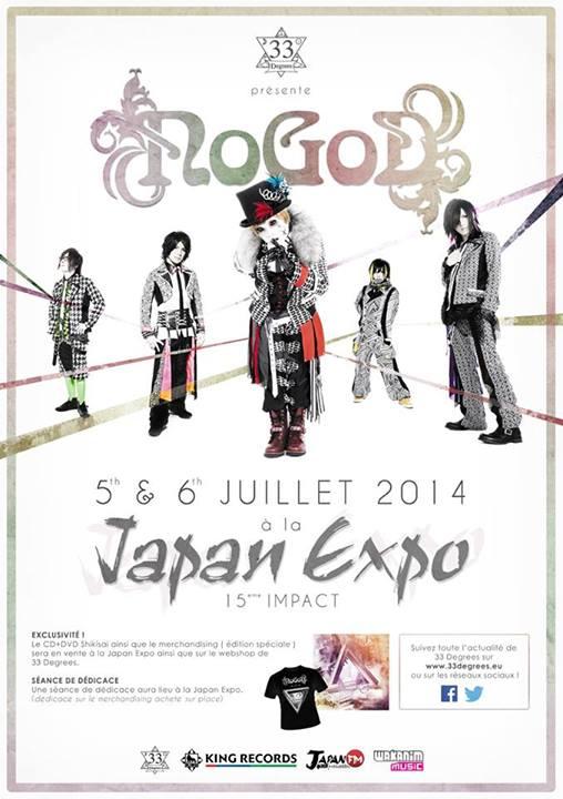[Jpop] NoGod Live in Paris for Japan Expo 2014