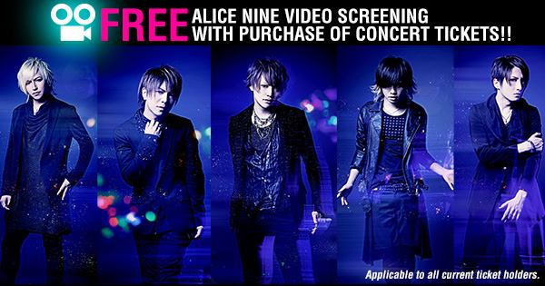 Exclusive Alice Nine Video Screening in Singapore on June 14