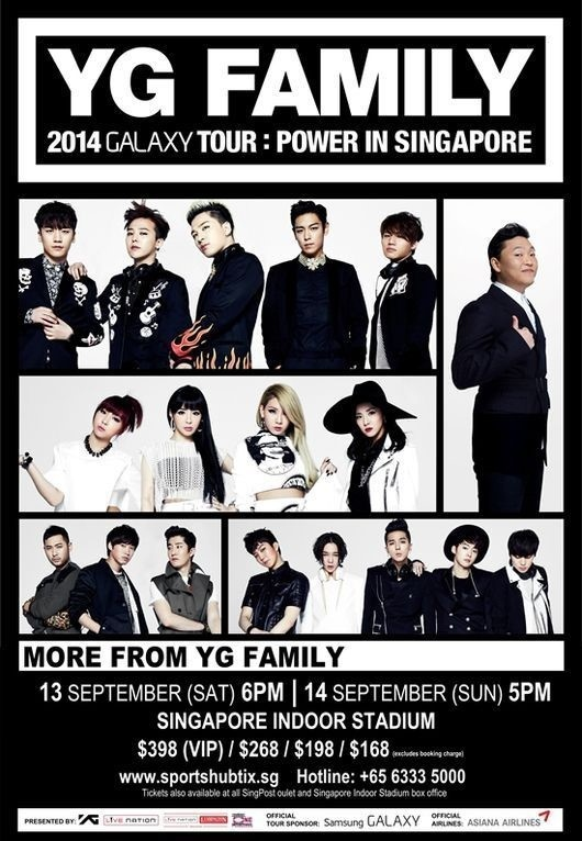 """YG Family"" to Hit the Road to Singapore This Autumn"