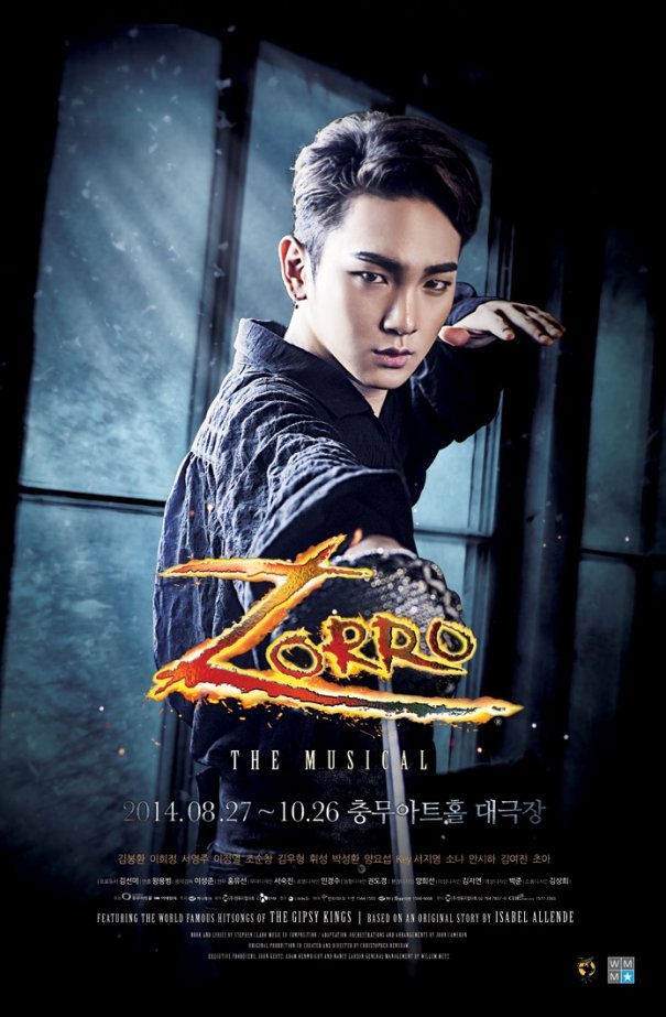 "[Kpop] SHINee Key Selected as Protagonist for ""Zorro: The Musical"""