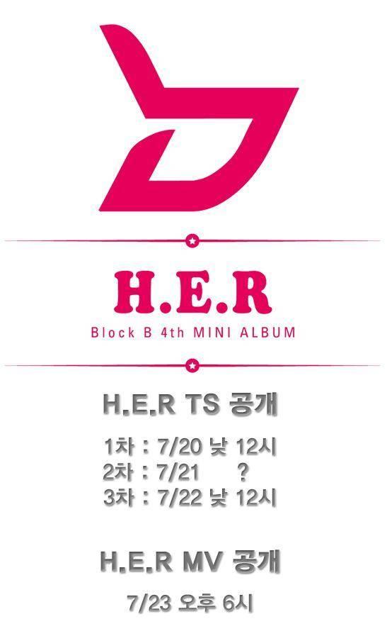 "Block B Release First Teaser For Upcoming Mini Album ""H.E.R"""