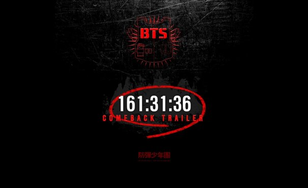 BTS Announced Rapid Comeback, Launched Countdown to First Trailer