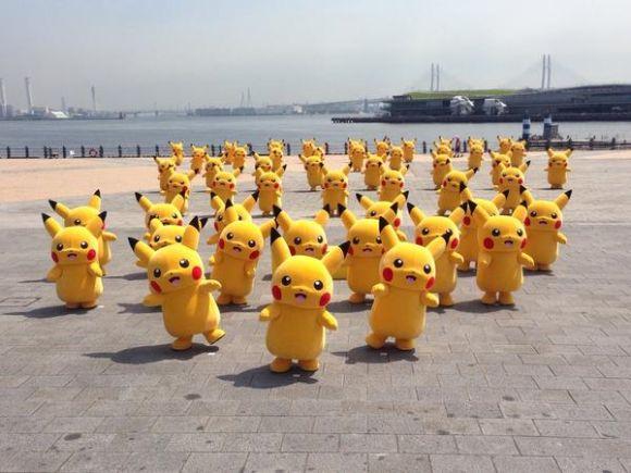 Swarm of Pikachus Invades Yokohama