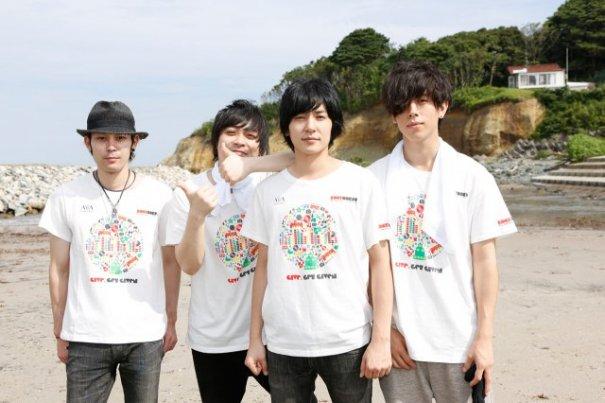 flumpool Join Volunteers at Beach Clean-Up at Fukushima