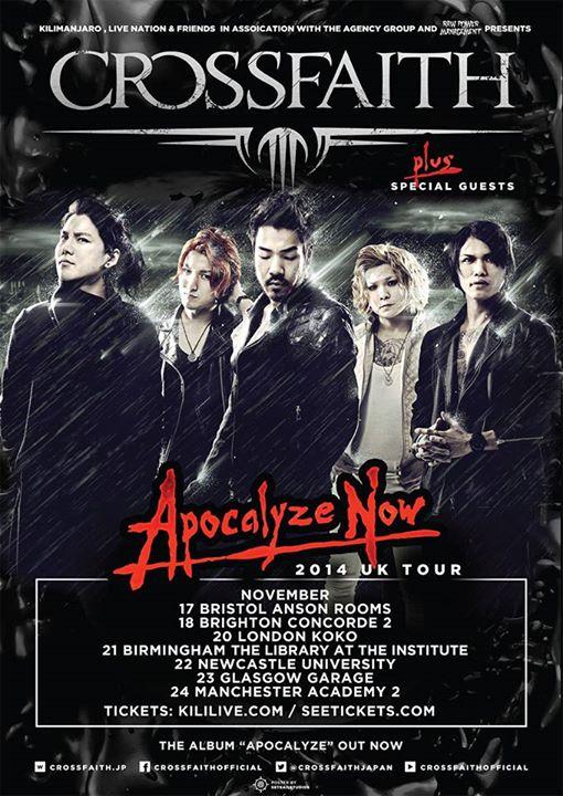 CROSSFAITH Announces New Single and UK Tour