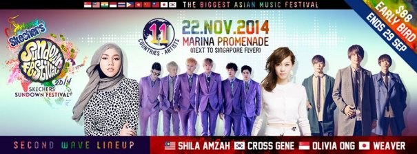 [Jpop] WEAVER and CROSS GENE Join Other Top Asian Acts at Skechers Sundown Festival 2014