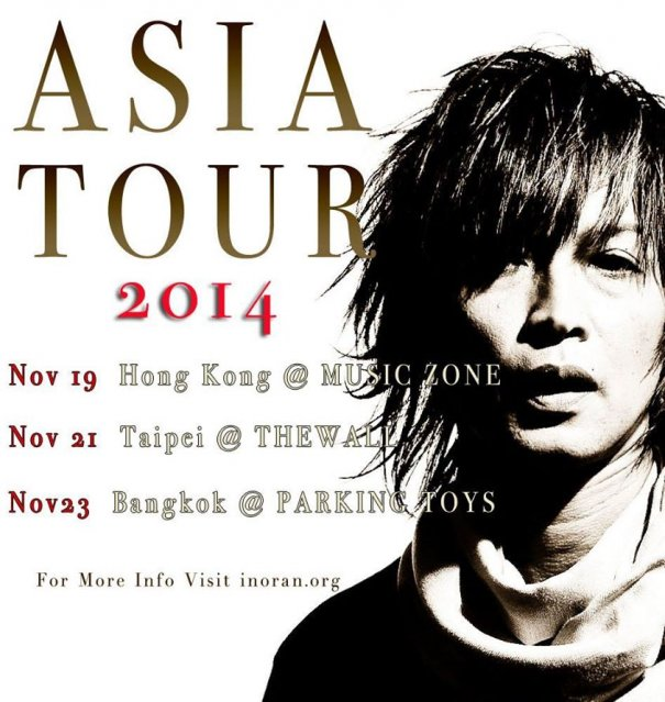 INORAN Reveals Asia Tour Venues and Dates