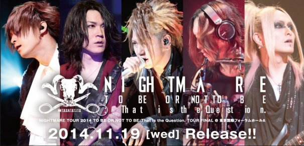 [Jrock] Nightmare to Release DVD and Live CD this November