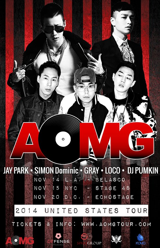 Jay Park, Simon D & More To Perform In US As Part Of AOMG Tour
