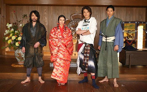 [Jpop] Shun Oguri, Kou Shibasaki, & Mukai Osamu Attend Press Conference for Nobunaga Concerto