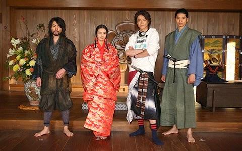 Shun Oguri, Kou Shibasaki, & Mukai Osamu Attend Press Conference for Nobunaga Concerto